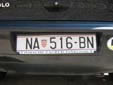 Normal plate (old style). NA = Našice