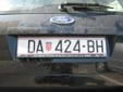 Normal plate (old style). DA = Daruvar