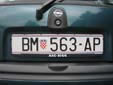 Normal plate (old style). BM = Beli Manastir