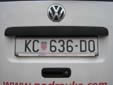 Normal plate (old style). KC = Koprivnica