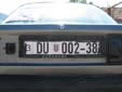 Temporary plate for technical inspection. DU = Dubrovnik