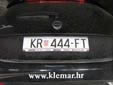Normal plate (old style). KR = Krapina