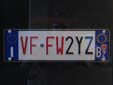 Fire engine's plate (front) for the autonomous province of South Tyrol<br>VF = Vigili del Fuoco / FW = Feuerwehr (Fire Department)<br>BZ = Bozen (Bolzano)