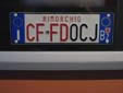 Forestry Corps trailer plate for the<br>autonomous province of South Tyrol<br>CF = Corpo Forestale / FD = Forst Dienst (Forestry Corps)<br>Rimorchio = trailer. BZ = Bozen (Bolzano)
