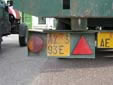 Trailer plate (old style). R = rimorchio (trailer)