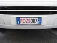 Civil Protection vehicle's plate (front) for the<br>autonomous province of South Tyrol<br>PC = Protezione Civile / ZS = Zivilschutz (Civil Protection)<br>BZ = Bozen (Bolzano). 04 = First registered in 2004