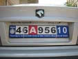Plate for driving outside Iran. 10 = Tehran