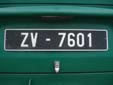 Old-timer plate. ZV = old-timer (over 30 years old)<br>Submitted by Harald Schapperer from Germany