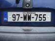 Normal plate. 97 = first registered in 1997<br>WW = Wicklow (Cill Mhantáin)<br>Submitted by Harald Schapperer from Germany