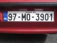 Normal plate. 97 = first registered in 1997<br>MO = Mayo (Maigh Eo)<br>Submitted by Harald Schapperer from Germany
