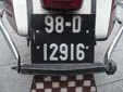 Motorcycle plate (old style coloring scheme)<br>98 = first registered in 1998. D = Dublin (Baile Átha Cliath)<br>Submitted by Harald Schapperer from Germany