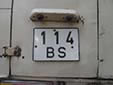 Commercial vehicle's plate (old style). B = Bishkek