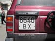 Normal plate (old style). B = Bishkek