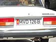 Governmental plate<br>MVD = Ministry of Internal Affairs. B = Bishkek
