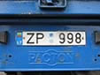 Trailer plate (old style)