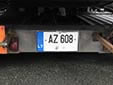 American size trailer plate