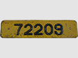 Self-drive rental vehicle's plate (old style)