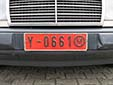 Public Service vehicle's plate (old style). Y = public service<br>(detailed view of the previous picture)