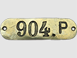 Former donkey/horse cart registration plate (approx. 13 x 3.5 cm)