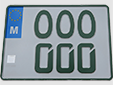 Official prototype of an old-timer plate made by Transport Malta
