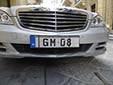 Government officials vehicle's plate. GM = Government of Malta<br>'GM' plates are placed over the normal plates for official trips of ministers and other high officials.