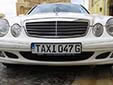 Taxi plate. TAXI G = Gozo taxi<br>(detailed view of the previous picture)