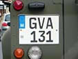 Governmental plate (GV). GVA = Armed Forces