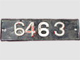 Chauffeur-driven rental vehicle's plate (old style)<br>Originally this was a white plate with red numbers.