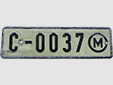 Normal plate (old style)