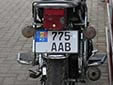 Motorcycle plate