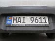 Police and ambulance plate. MAI = Ministerul<br>Afacerilor Interne (Ministry of Internal Affairs)