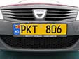 Taxi plate