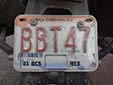 Motorcycle plate (2006 series) from the State of Baja California Sur<br>BCS = Baja California Sur. MEX = México<br>Submitted by Christian Frauenfelder from Switzerland