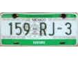 Tourist vehicle's plate (front)<br>Turismo = tourism. Delantera = front<br>Submitted by Eric Ackermans from the Netherlands