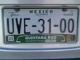 Normal plate (rear, 2008 series) from the State of Quintana Roo. Trasera = rear<br>Submitted by Cesare Augustus Magnus from Mexico