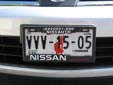 Normal plate (front, 2005 series) from the State of Sonora<br>Delantera = front