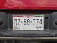 Truck plate (rear, 2012 series) from the State of Chihuahua<br>Trasera = rear. Camión = truck