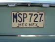 Normal plate (1986 series) from the State of México<br>First MEX = México (state), second MEX = México (country)<br>Submitted by Harald Schapperer from Germany
