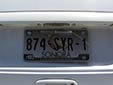 Border zone plate (rear, 2011 series) from the State of Sonora<br>Frontera = border zone. Trasera = rear