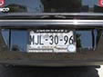 Normal plate (rear, 2009 series) from the State of México<br>Trasera (behind the frame) = rear