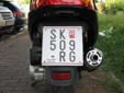 Motorcycle plate (old style). SK / СК = Skopje