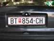Normal plate (old style). BT / БТ = Bitola