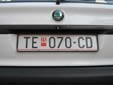Normal plate (old style). TE = Tetovo