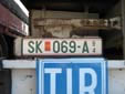 Temporary plate (old style). SK = Skopje<br>94 = valid until the end of 1994<br>PM = Република Македонија (Republic of Macedonia)