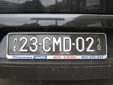 Diplomatic plate (old style). CMD = Chef de Mission<br>Diplomatique / Head of the Diplomatic Mission<br>MK = Makedonija (Macedonia). 23 = Croatia. 10 = valid in 2010