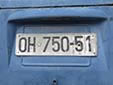 Normal plate (old style) from the former Republic of Yugoslavia. OH = Ohrid