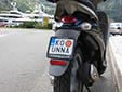 Personalized moped plate. KO = Kotor