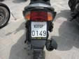 Motorcycle plate (old style) from the former Republic<br>of Serbia and Montenegro. KOTOP = Kotor