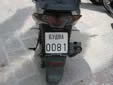 Motorcycle plate (old style) from the former Republic<br>of Serbia and Montenegro. БУДВA = Budva
