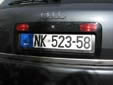 Normal plate (old style) from the former Republic<br>of Serbia and Montenegro. NK = Nikšić
